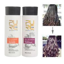 PURE Brazilian Keratin Hair Straightening Treatment Conditioners + Shampoo Kit