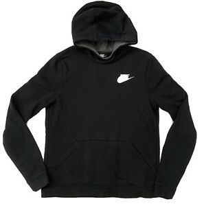 Nike Kids Hoodie Unisex Youth Girls Boys Front Pocket Active Workout Black XL