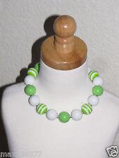 New Acrylic Chunky Beads Bubblegum Gumball Jewlery Necklace green girl child