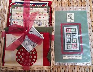 """Christmas Windows"" #442 Panel Pattern/Fabric Quilt KIT 34x52"" PiecesHeart Moda"