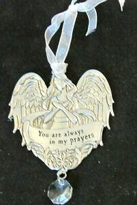 Ganz Angel Ornament You/'re Friendship Brightens My Life Metal Zinc Ornament