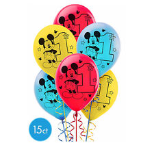Mickey Mouse 1st Birthday Party Supplies Baby Mickey 15 Latex Balloons ~ FIRST
