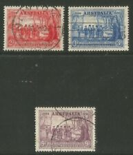 Australia 1937 New South Wales 150th Anniv-Attractive Topical (163-65) used