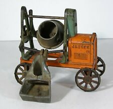 1910s LARGE CAST IRON JAEGER CEMENT MIXER CONSTRUCTION TOY By KENTON HARDWARE