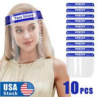 10PCS Full Face Shield Reusable Washable Protection Cover Face Mask Anti-Splash