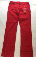U-51~Authentic Denim~ Women's Size 9~Red Hot Jeans~Rhinestone Buttons New W/Tags