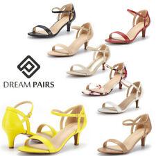 DREAM PAIRS Women's Low Stilettos Heel Sandals Ankle Strap Work Dress Shoes Size