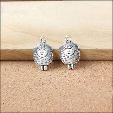 20PCS Antique Silver Lovely Sheep Charms Pendant For Bracelet Necklace 20x13mm