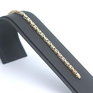 Königs Armband 585 Gold 14 kt 19,5 cm 15,1 Gramm Wert 1360,-