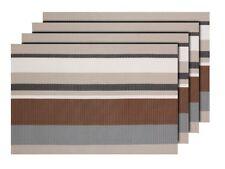 4er Set Platz-Matten TS-100 beige Tisch-Sets Platzset Tisch-Matten Platzdeckchen