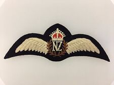 WWII Royal New Zealand Air Force Pilots cloth wings R.N.Z.A.F. Aviators badge