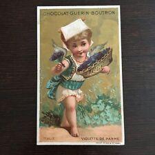 Chromo Publicitaire Chocolat Guerin-Boutron - Italie - Violette de Parme