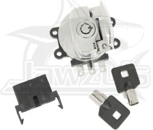 Drag Specialties Side Hinge Chrome Ignition Switch for Harley Davidson