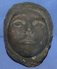Antique Handcrafted Bronze Head Sculpture