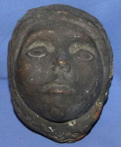 Antique Handcrafted Bronze Head Sculpture