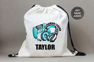 Personalised Gamer Gaming school Bag PE Bag Swimming Bag Back to School PS4