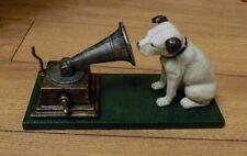 Superb Heavy Cast Iron Hmv His Masters Voice Dog & Gramophone Ornament