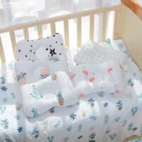 2 Pack Cotton Pillow Baby Infant Newborn Pillow Flat Head Prevention Support Sof