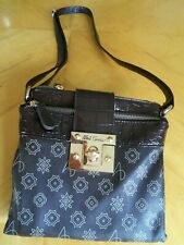 ALFRED DUNNER Cross Body Bag CHOCOLATE BROWN 2 Zipper Compartments