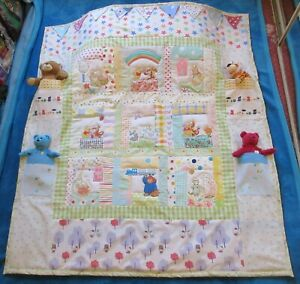New storybook Rainbow quilt + bag & bunting. Can personalise with child's name