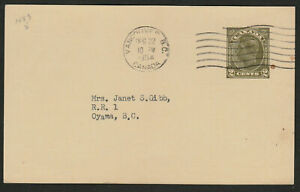"""Canada Postal Stationery Card #P69 - 1954 """"VANCOUVER SUN"""" SUBSCR RENEWAL - ph85"""