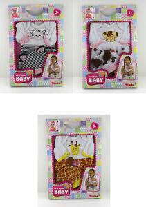 Simba 105400911 - New Born Baby Strampelanzug mit Mütze - Hund Katze Giraffe