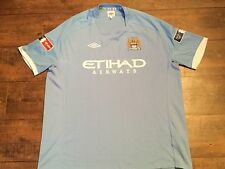 """2010 2011 Manchester City Home FA Cup patches Football Shirt Adults 52"""" XXL"""