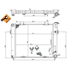 Kühler Motorkühlung - NRF 50202