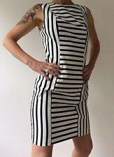 H&M Blue and White Striped Sheath Dress Size 14 (EU40)