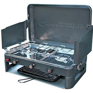 Outdoor Revolution Twin Burner Gas Camping Stove & Grill