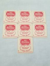 Old Milwaukee 1972 Coaster Set Of 7 Collector's Item Schlitz Brewing Company P5