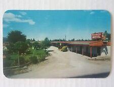 Vintage Hacienda Motel Coeur d' Alene Idaho Postcard Ross Hall Studio Sandpoint