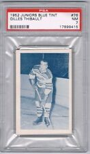 1952 Juniors Blue Tint Hockey Card Quebec Citadels Gilles Thibault Graded PSA 7