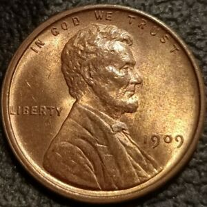 1909 VDB Lincoln Wheat Cent Penny 1c GEM BU+ Uncirculated Nice Detail P2327