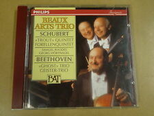 CD PHILIPS / SCHUBERT: TROUT QUINTET - BEETHOVEN: GHOST TRIO - GEISTER TRIO