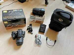 Nikon D5200 Spiegelreflexkamera Kit mit VR 18-55mm Objektiv & vielen Extras TOP