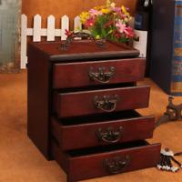 Coffre en bois avec 4 tiroirs pour le coffret d'organisateur