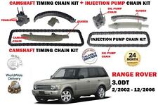 FO RANGE ROVER 3.0 TD6 M57D30 2002-12/2006 CAMSHAFT + INJECTION TIMING CHAIN KIT