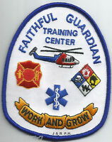 "NAVY - Naval Training Center - Faithful Guardian  (3.25"" x 4"" size) fire patch"