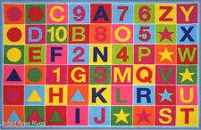 3x5  Area Rug Educational  Alphanumeric ABC & Numbers Kids School Time  New