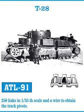 1/35 FRIULMODEL ATL-91 METAL TRACK FOR SOVIET TANK T-28 for HOBBY BOSS 83851 Kit
