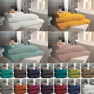 Hampton Face Hand Bath Towels Jumbo Bath Sheet 100% Egyptian Cotton 450 GSM
