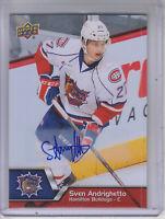2014-15 Upper Deck AHL Autographs #134 Sven Andrighetto Auto - NM-MT