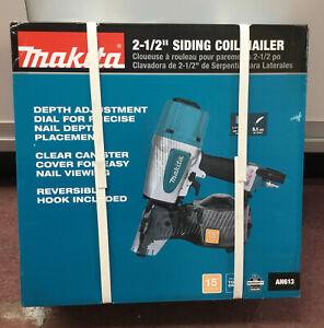"""Makita AN613 2-1/2"""" Siding Coil Nailer NEW #2"""