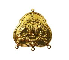 10 pcs Coat of Arms Shield Gold Tone Thin Metal Pendants Charms Crafts Jewelry