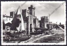BRESCIA SIRMIONE 54 CASTELLO - BARCHE - VELE Cartolina REAL PHOTO