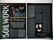 COUPURE DE PRESSE-CLIPPING :  SOILWORK [2pages] 03/2002 Peter Wichers,Natural...