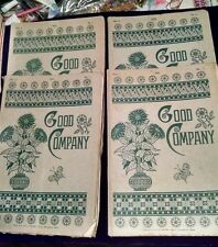 Lot 4 Good Company Periodical Magazine 1879-1880 Harriet Beecher Stowe FREE SHIP