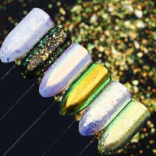 0.1G Espejo brillos y lentejuelas de uñas camaleón Neón Polvo de Arte en Uñas Manicura