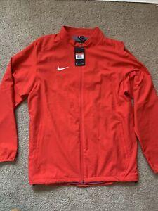 Nike Dry Jacket Full Zip Mesh Liner Red Training Men's Large Dri-Fit 897025 Sz L
